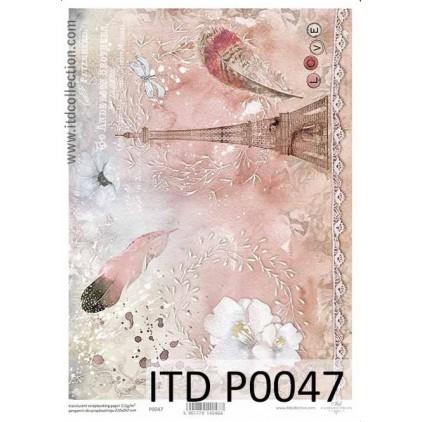 Papier pergaminowy drukowany, kalka - P0047- ITD Collection