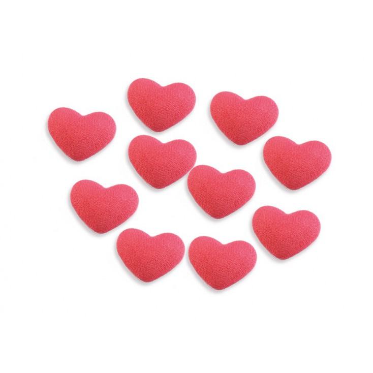 Decoration, brad - material heart - salmon