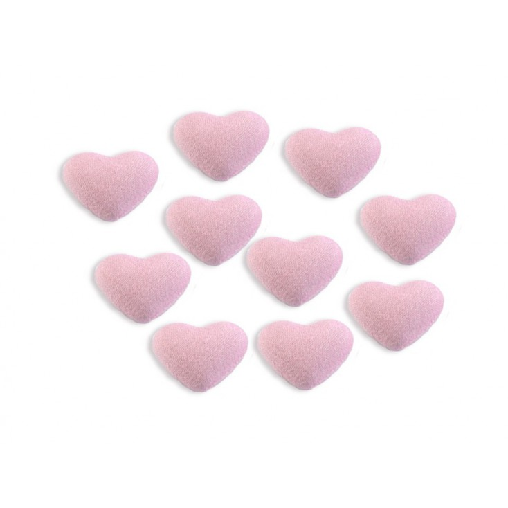 Decoration, brad - material heart - light pink