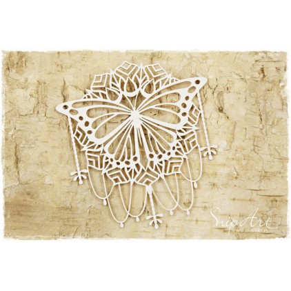 Cardboard - Butterfly on a napkin - large - SnipArt