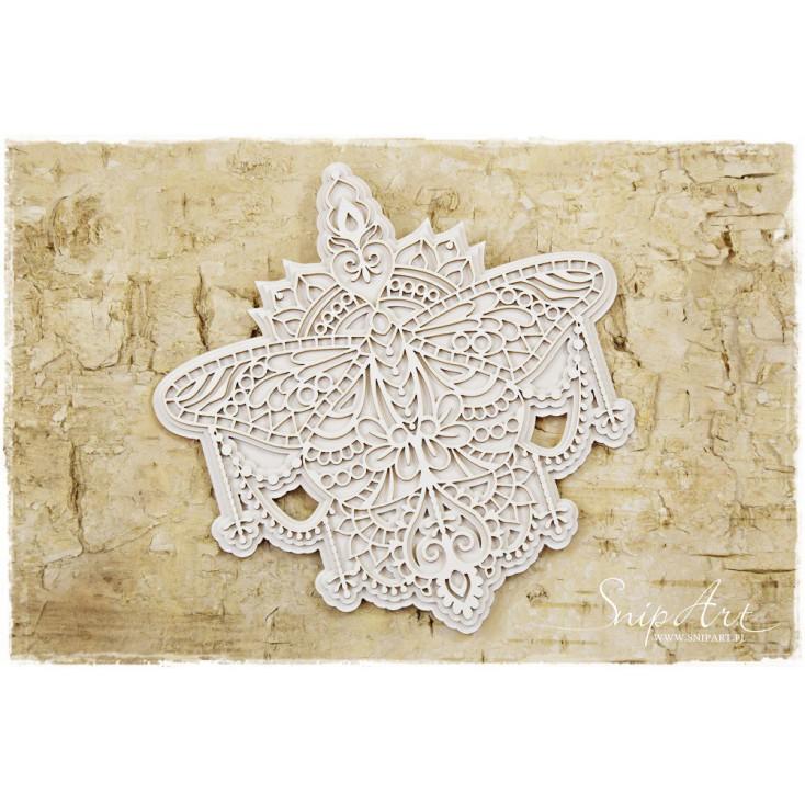 Cardboard - Butterfly mandala - big, multi-layered - SnipArt
