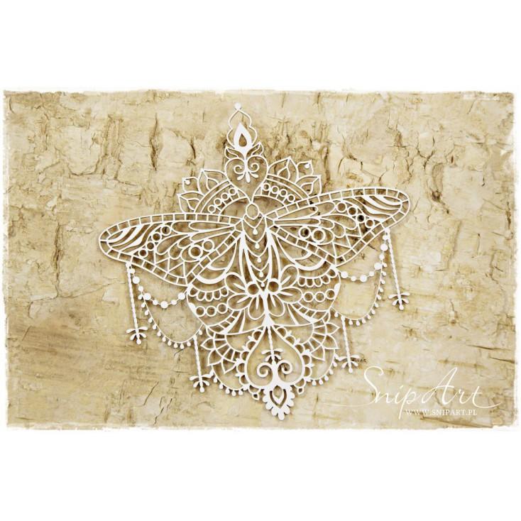 Cardboard - Butterfly mandala - big - SnipArt