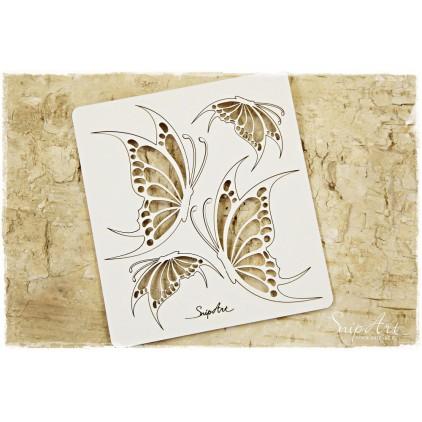 butterfly set 1 laser cut, cardboard- SnipArt
