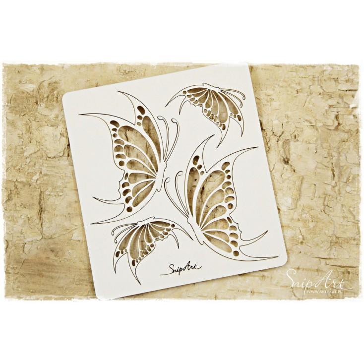 Tekturka - skrzydła motyli - zestaw 1 - SnipArt