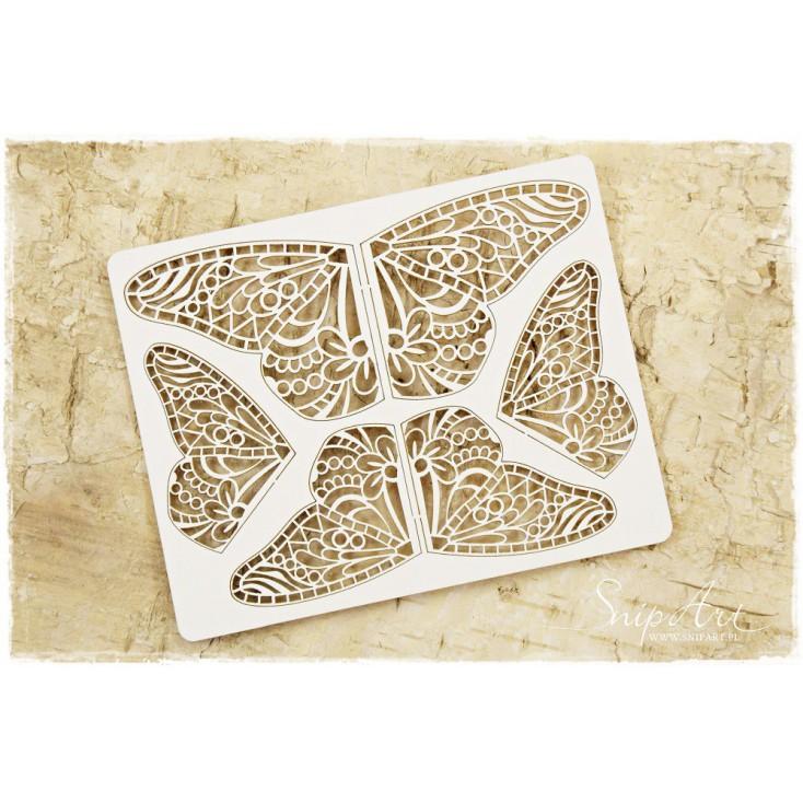 Cardboard - Butterfly wings mandala - set - SnipArt