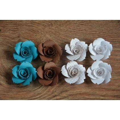 Zestaw papierowych kwiatów - miks kolorów 99 - 8 sztuk