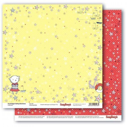Scrapbooking paper - Zoe & Ziggy's Sailing Adventures - Star Girl - Scrapberry's