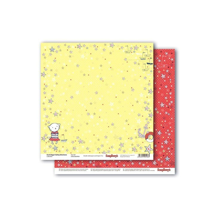 Scrapbooking paper - Zoe & Ziggy's Sailing Adventures - Star Girl - Scrapberry's