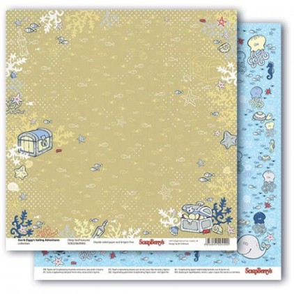 Scrapbooking paper - Zoe & Ziggy's Sailing Adventures - Deep Sea Treasures - Scrapberry's