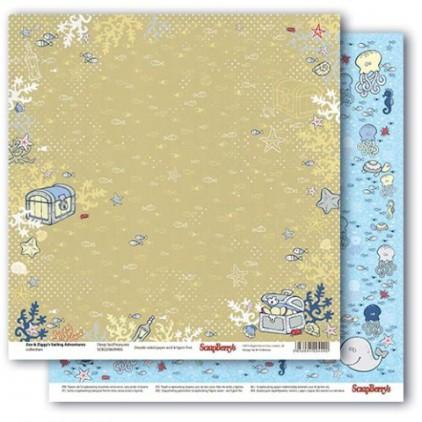 Scrapbooking paper - Zoe & Ziggy's Sailing Adventures - Deep Sea Treasures - Scrapberry's