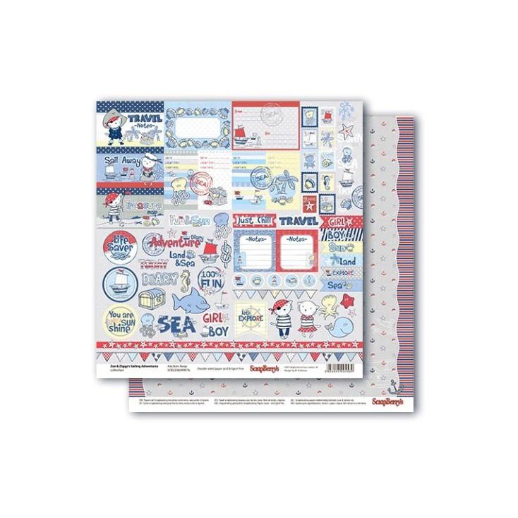 Scrapbooking paper - Zoe & Ziggy's Sailing Adventures - Anchors Away - Scrapberry's