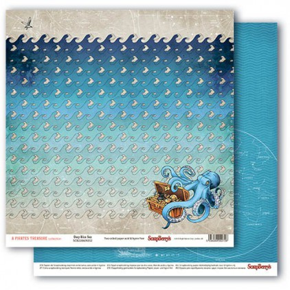 Scrapbooking paper - The Pirate's Treasure- Deep Blue Sea - Scrapberry's