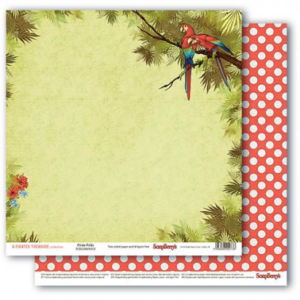 Scrapbooking paper - The Pirate's Treasure- Pirate Polka - Scrapberry's