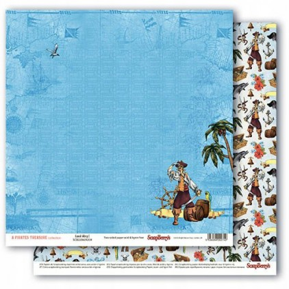 Scrapbooking paper - The Pirate's Treasure- Land Ahoy ! - Scrapberry's