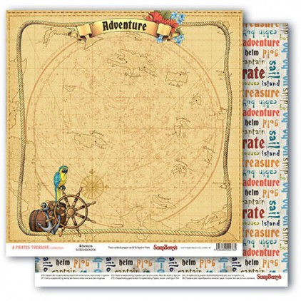 Scrapbooking paper - The Pirate's Treasure- Adventure - Scrapberry's