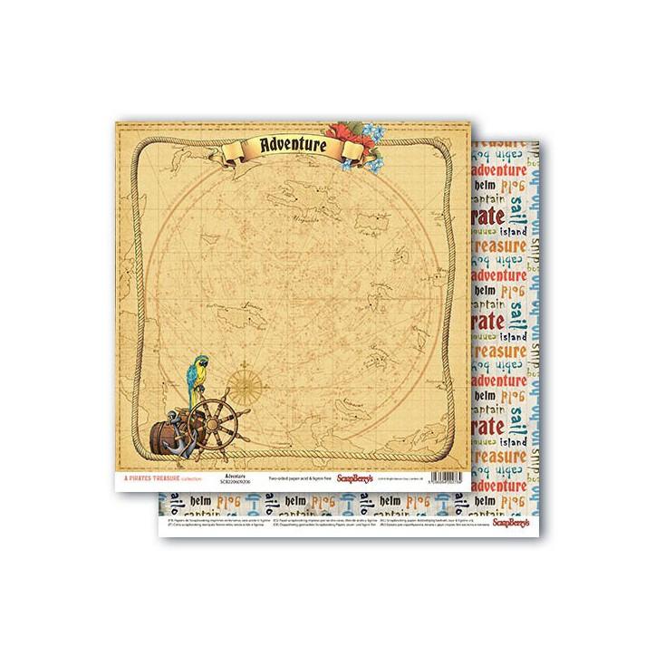 Scrapbooking paper - The Pirate's Treasure- Adventure - Scrapberry's