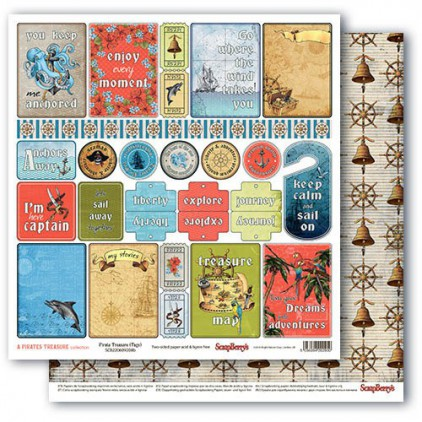 Papier do scrapbookingu – The Pirate's Treasure-Pirate Treasures - tagi - Scrapberry's