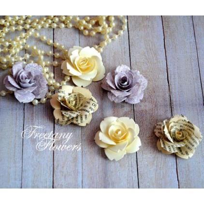 Zestaw papierowych kwiatów - miks kolorów 160404 - 6 sztuk