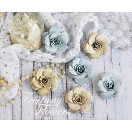 Zestaw papierowych kwiatów - miks kolorów 170449 - 6 sztuk