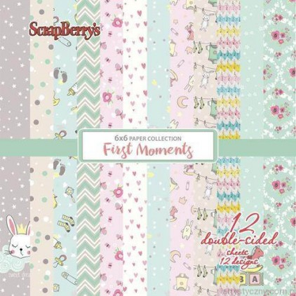 Set of scrapbooking papers - ScrapBerry's - First Moments