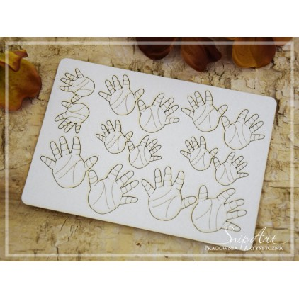 Cardboard - child's hands - lines - set - SnipArt