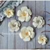 Zestaw papierowych kwiatów - miks kolorów 160812 - 6 sztuk