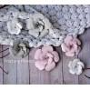 Zestaw papierowych kwiatów - miks kolorów 160814 - 6 sztuk