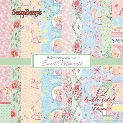 Set of scrapbooking papers - ScrapBerry's - Sweet Moments