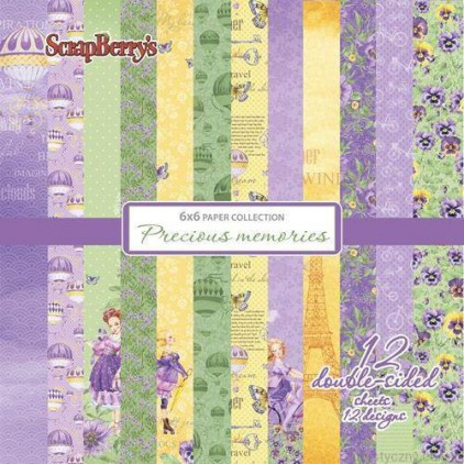 Set of scrapbooking papers - ScrapBerry's - Precious memories