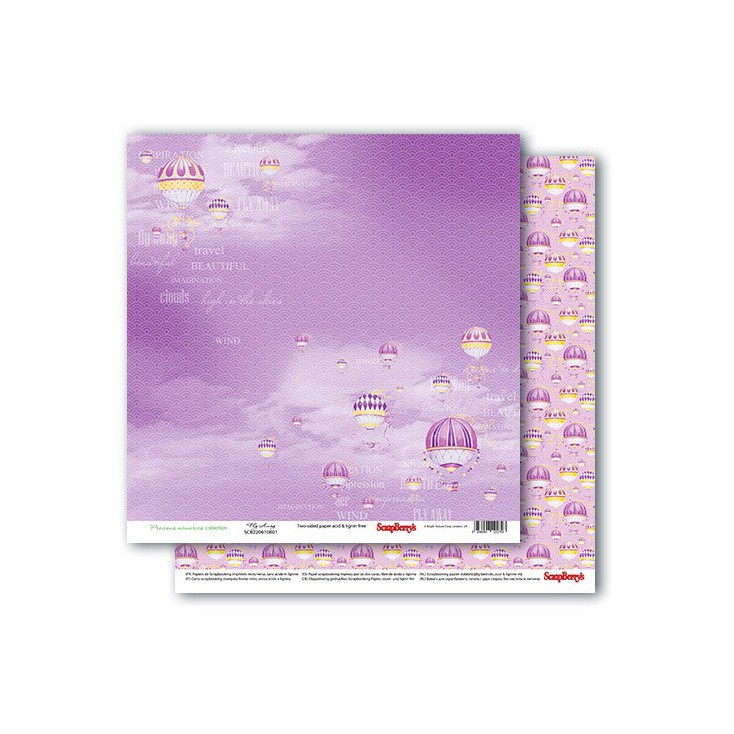 Scrapbooking paper - Precious memories - Fly Away- Scrapberry's
