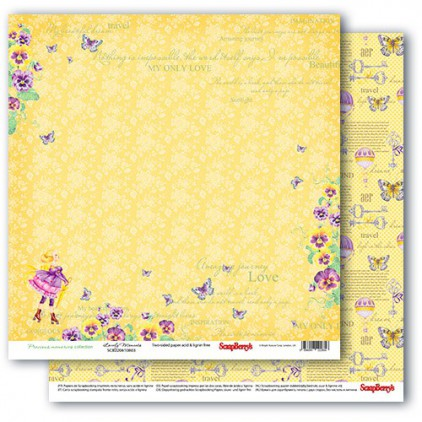 Scrapbooking paper - Precious memories - Lovely Moments - Scrapberry's