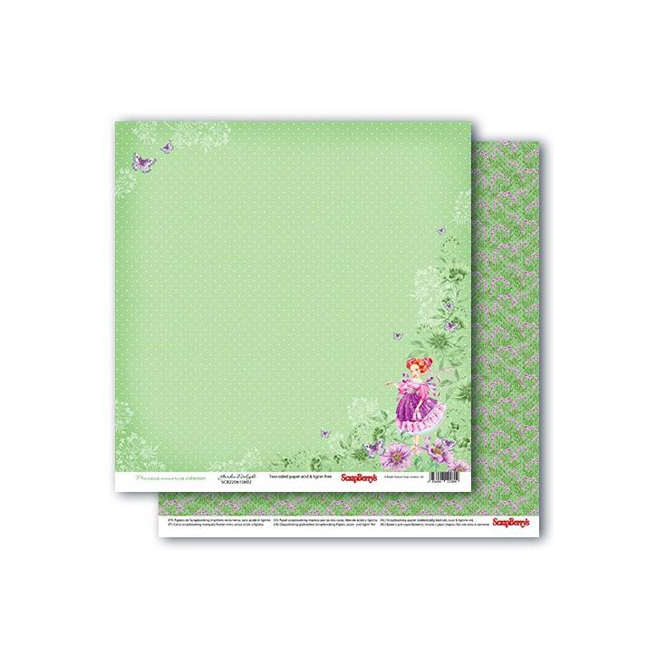 Scrapbooking paper - Precious memories - Garden delight- Scrapberry's