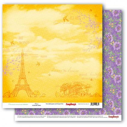 Papier do scrapbookingu – Precious memories - Paris - Scrapberry's
