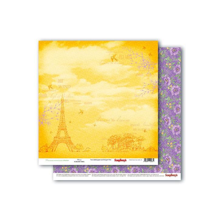 Scrapbooking paper - Precious memories - Paris- Scrapberry's