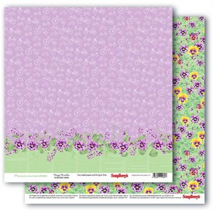 Papier do scrapbookingu – Precious memories - Pansy Paradise - Scrapberry's