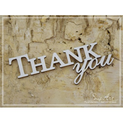 "Cardboard - inscription ""THANK you"" - SnipArt"