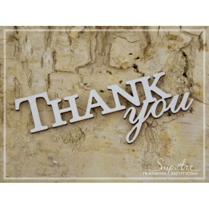 """Cardboard - inscription """"THANK you"""" - SnipArt"""