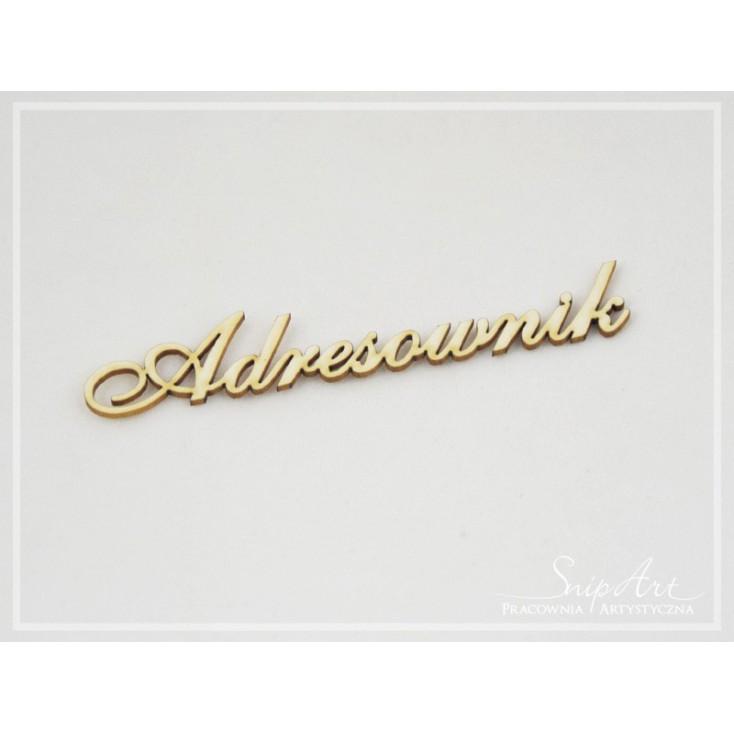 """Cardboard - inscription """"Adresownik"""" small (3) - SnipArt"""