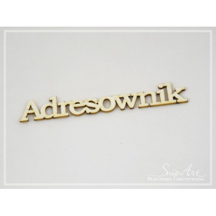 "Cardboard - inscription ""Adresownik"" large (2) - SnipArt"