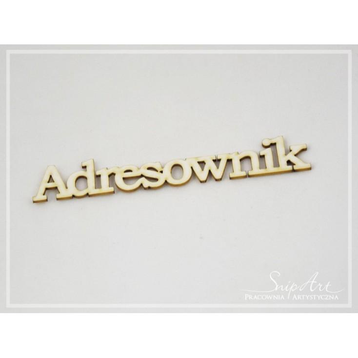 "Cardboard - inscription ""Adresownik"" large (2) - SnipArt"