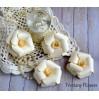 Zestaw papierowych kwiatów - kremowe - 170134- 4 sztuki