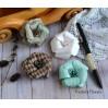 A set of paper flowers - mix of colours - 170135 - 4 pieces