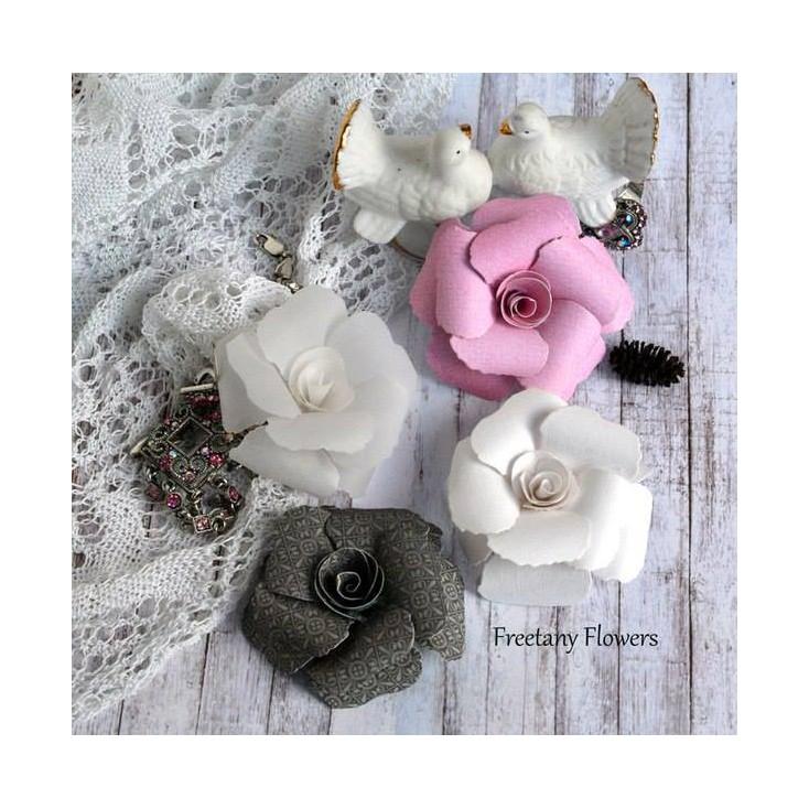Zestaw papierowych kwiatów - mix kolorów - 170136- 4 sztuki