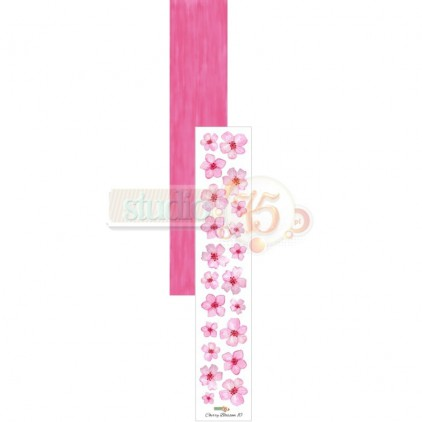 Scrapbooking paper, strip - Studio 75 - Cherry Blossom 10