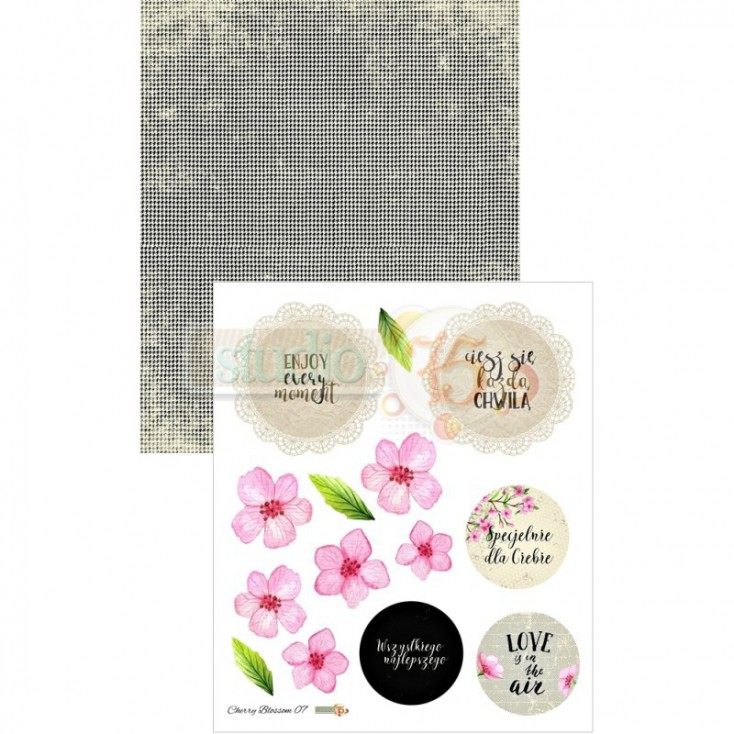 Scrapbooking paper, strip - Studio 75 - Cherry Blossom 07