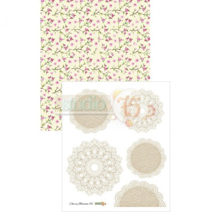 Papier do scrapbookingu– Studio 75 - Cherry Blossom 06