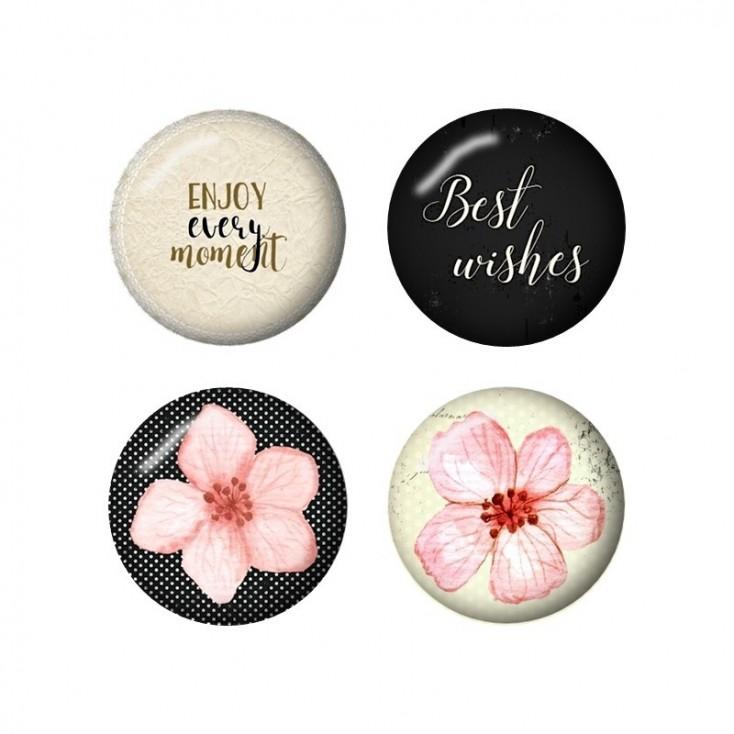 Selfadhesive buttons/badge - Studio 75 - Cherry Blossom - english subtitles