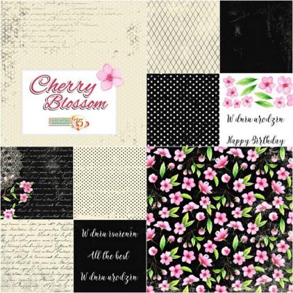 Mały bloczek papierów do scrapbookingu - Studio 75 - Cherry Blossom