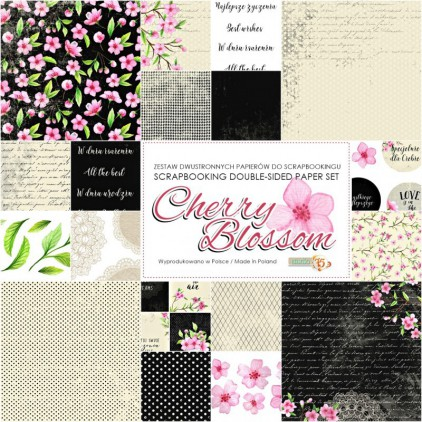 Set of scrapbooking papers - Studio 75 - Cherry Blossom
