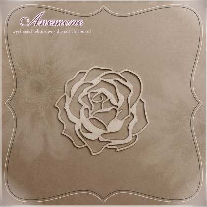 Chipboard - Anemone - Rose